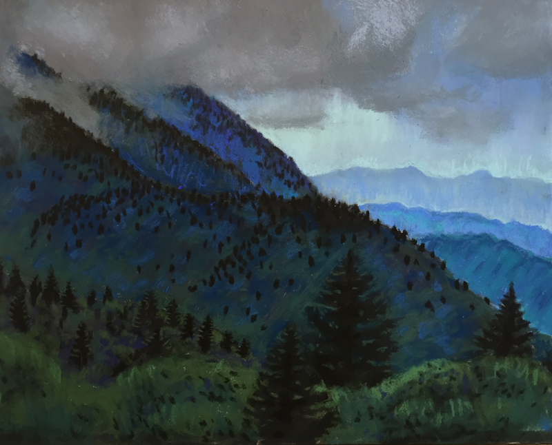BRP Dusting #7: Storm at Dusk, by Stephanie Berry, part of her Blue Ridge Parkway Series